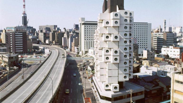 Башня-капсула Накагин - достопримечательности Японии Woman Planet