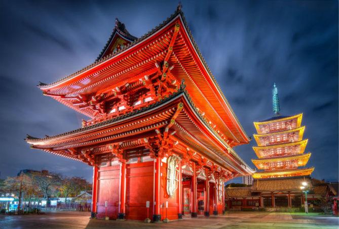 Храм Асакуса Каннон - достопримечательности Японии Woman Planet